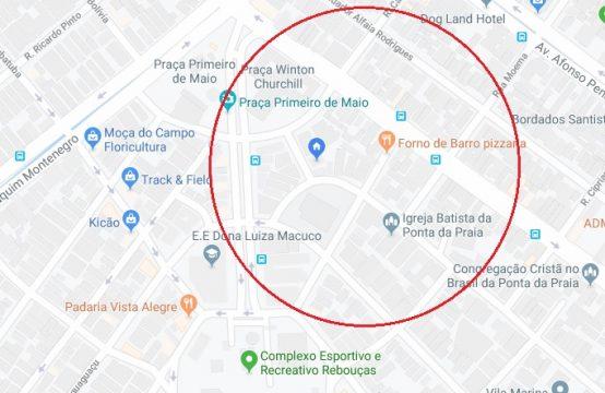 TERRENO – PONTA DA PRAIA – 243 m2 – 10,80 x 22,50 mts – Ref. 0024