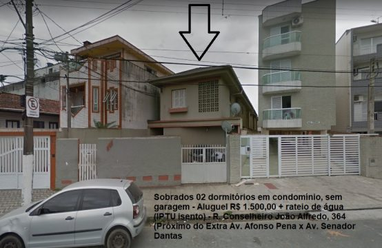 Macuco (Prox Extra Av Afonso Pena) SOBRADOS 02 Dormitórios em Condominio SEM GARAGEM Ref 008 009